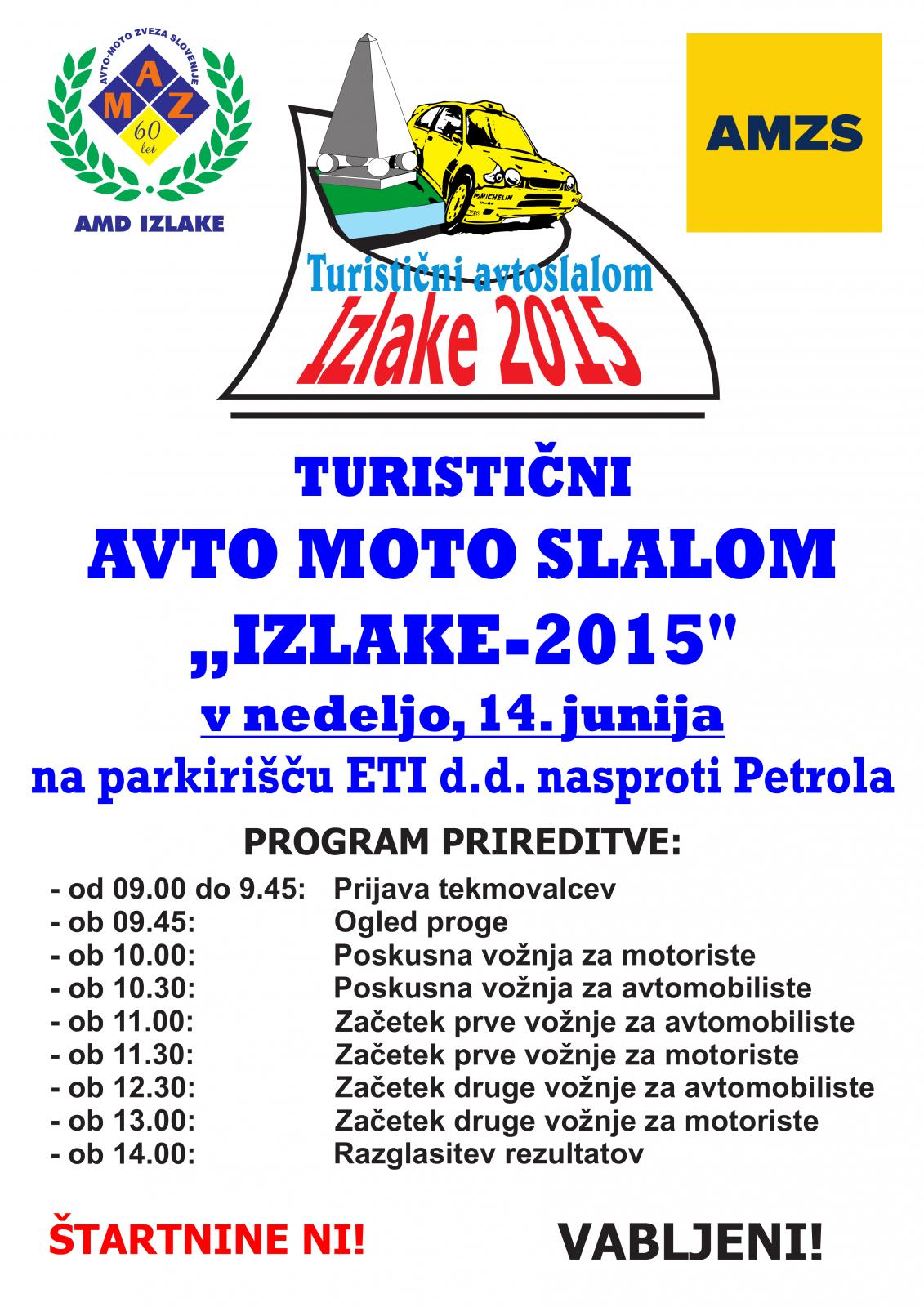Plakat AVTO+MOTO SLALOM 2015